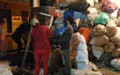 Mujeres recicladoras de Peque hicieron una bonita labor